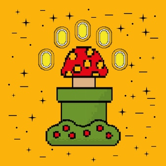 Video game munten paddestoel bush platform
