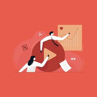 Video om merken te helpen groeien, online adverteren en digitaal marketingconcept