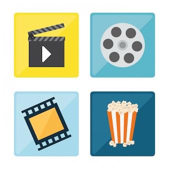 Video ontwerp illustratie
