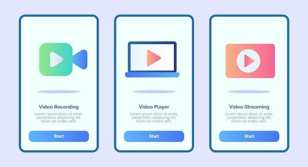Video-opname speler streaming