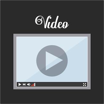 Video pictogram ontwerp, grafische illustratie eps10
