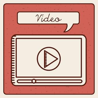 Video spelerontwerp, vector grafische illustratie eps10