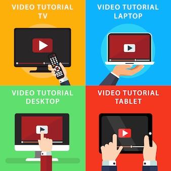 Video tutorials over verschillende verdeelt