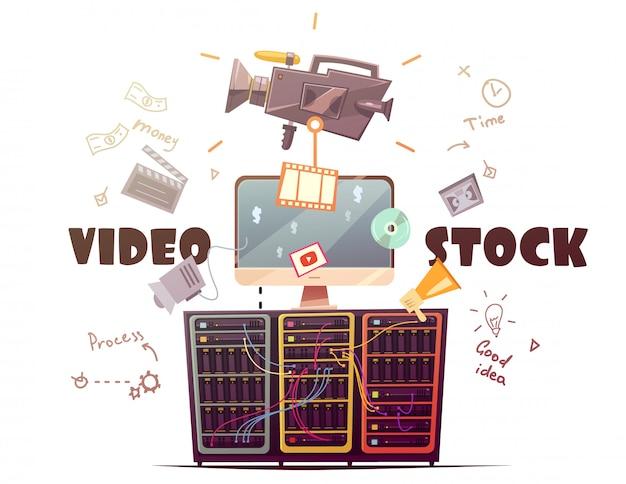 Videobeelden voor alle hd-videofragmenten van het type