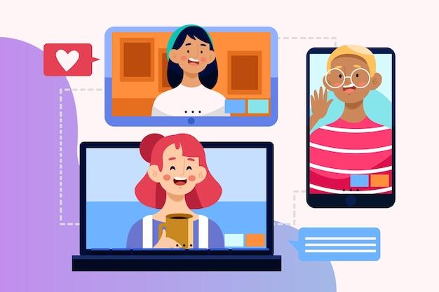 Videobellen met vrienden