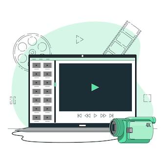 Videobestanden concept illustratie