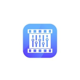 Videobewerkingspictogram voor app