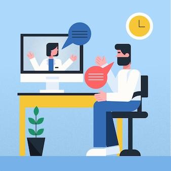 Videocalling met therapeutconcept