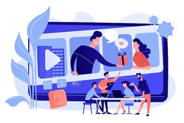 Videochatten, internethosting. markttendensen analyseren
