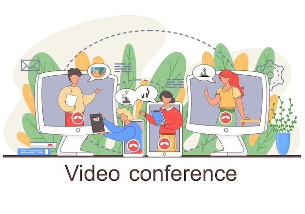 Videoconferenties, werkruimte voor online vergaderingen.