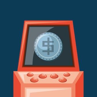 Videogame arcade-machine icoon