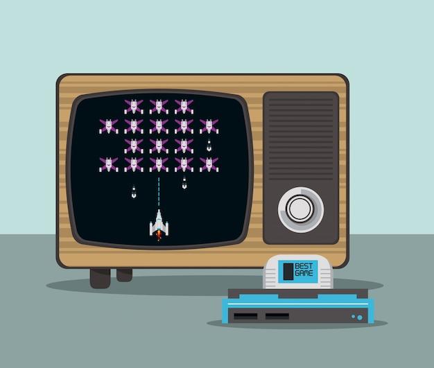 Videogame console en tv