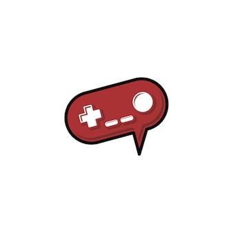 Videogame console joystick pictogram