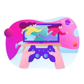 Videogame illustratie spelen