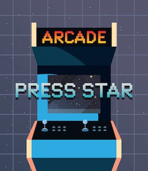 Videogame retro ilustration