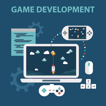 Videogames achtergrond ontwerp