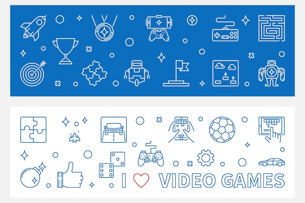 Videogames banners