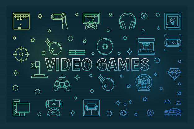 Videogames illustratie