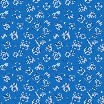 Videogames schetsen naadloos patroon