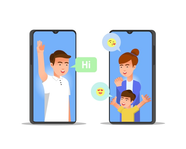 Videogesprek met familie