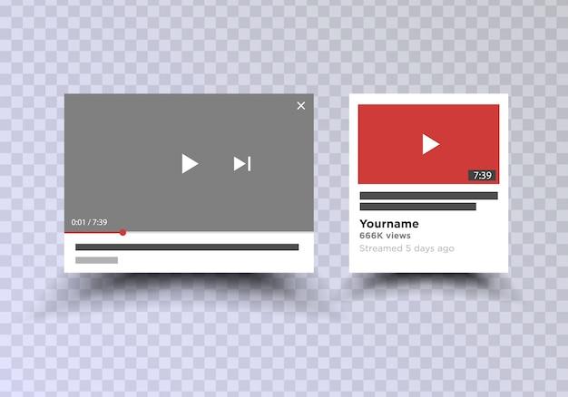 Videokanaal app-interface mobiele telefoon. sociale media . inschrijven.