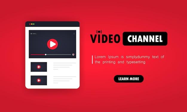 Videokanaal en kijken naar vlog, webinars online.