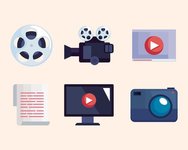Videoproductie icoon collectie