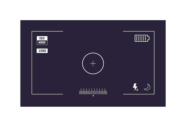 Videorecorder digitale display-interface op wit wordt geïsoleerd