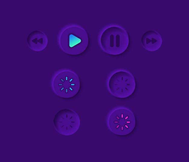 Videospeler ui-elementenkit