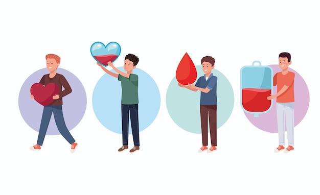 Vier donorkarakters