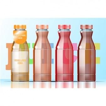 Vier flessen