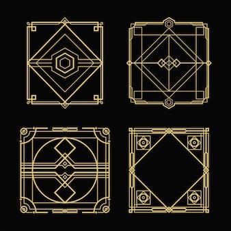 Vier gouden monturen