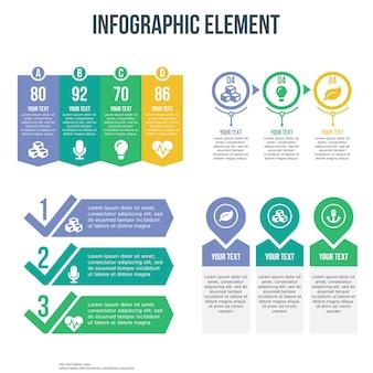 Vier infographic sjabloon met checklist en prijslijst thema