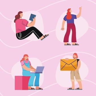 Vier innovatieve vrouwengroep