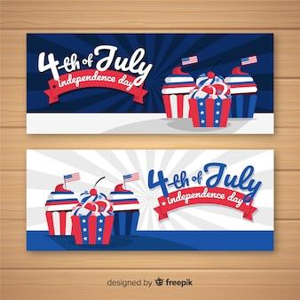 Vier juli banners