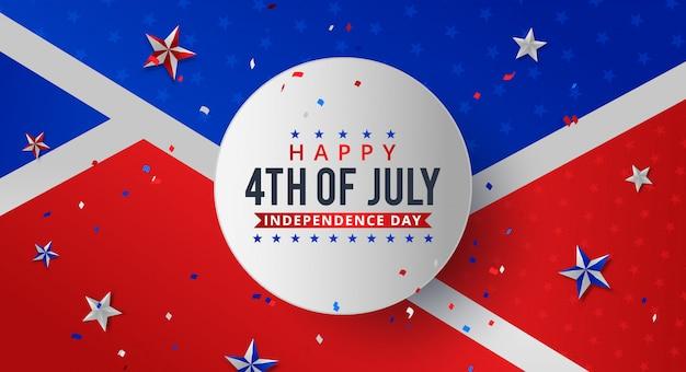 Vier juli. vakantie banner. usa independence day banner.