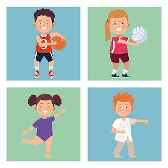 Vier kinderactiviteiten