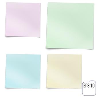 Vier kleurrijke kleverige