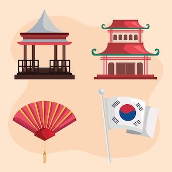 Vier korea cultuur iconen