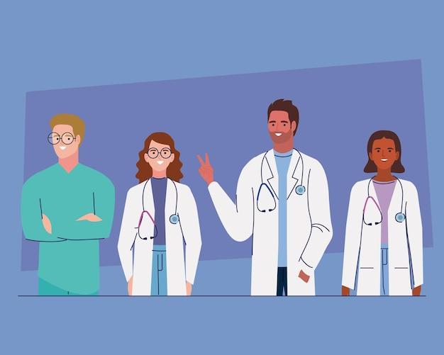 Vier medisch personeel