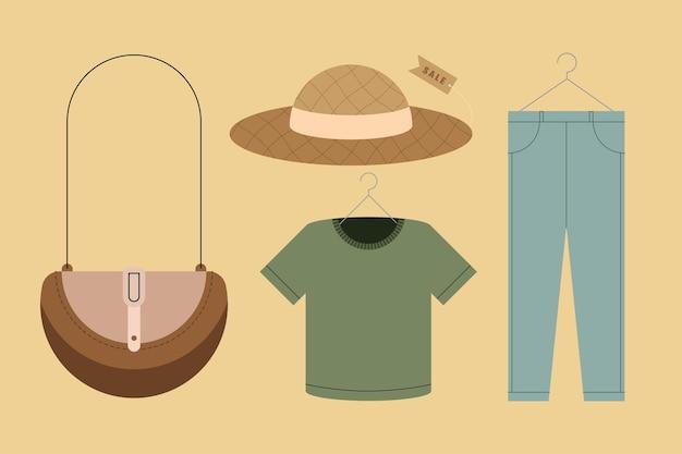 Vier mode kleding stijlicoon