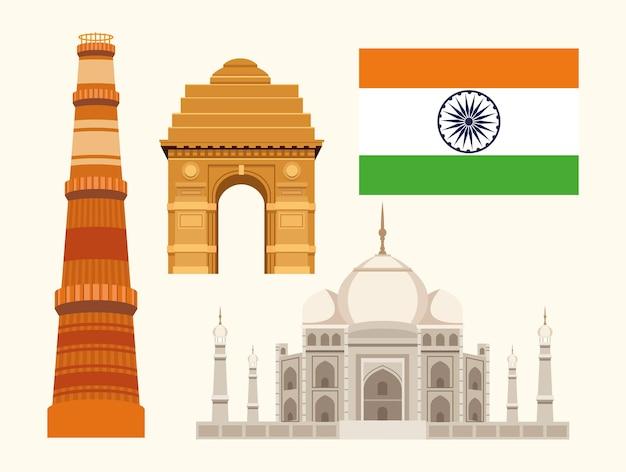 Vier onafhankelijkheids-indiase iconen