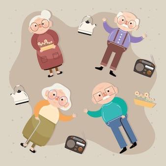 Vier oude personen