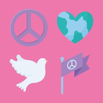 Vier pacifistische items