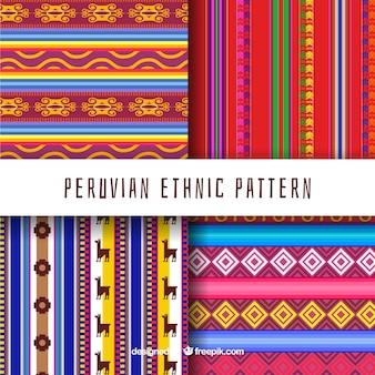 Vier peruaanse patronen