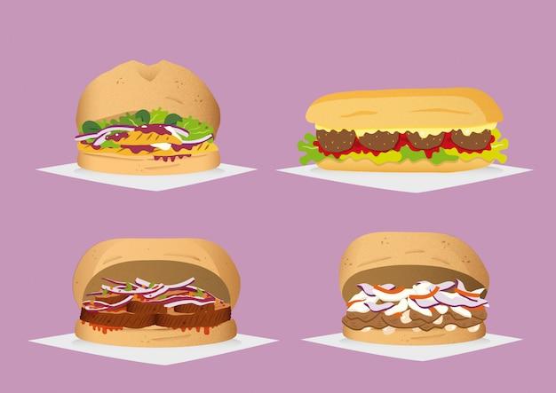 Vier sandwiches
