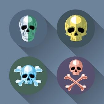 Vier schedels