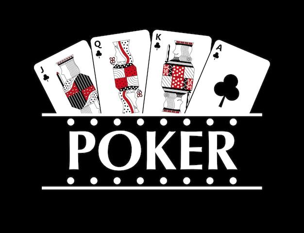 Vier speelclubs kaarten poker banner