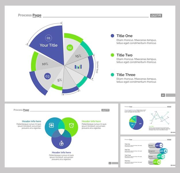 Vier statistieken slide templates set
