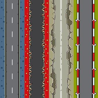 Vier top-down achtergronden voor het maken van videogames